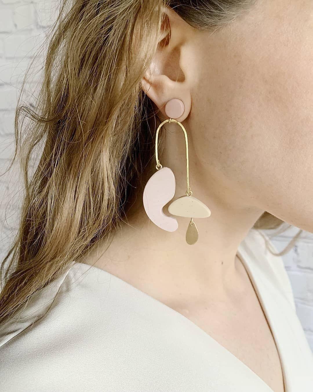 Polymer Clay Statement Earrings The Hattie
