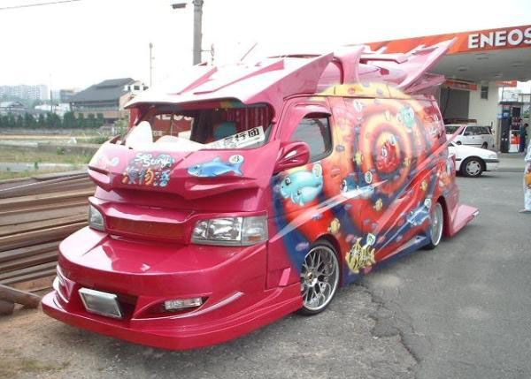 Japanese Gangster Vans Bosozoku Cars Japan Modified Cars Weird