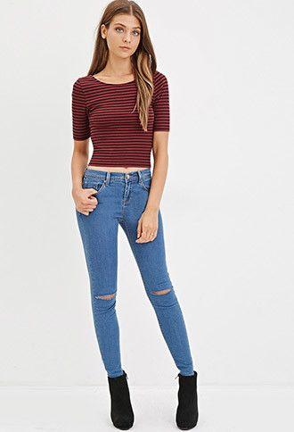 moda atractiva proporcionar una gran selección de disfruta del precio de descuento Jeans Skinny Rotos Rodilla | - 2000173536 | forever21 ...