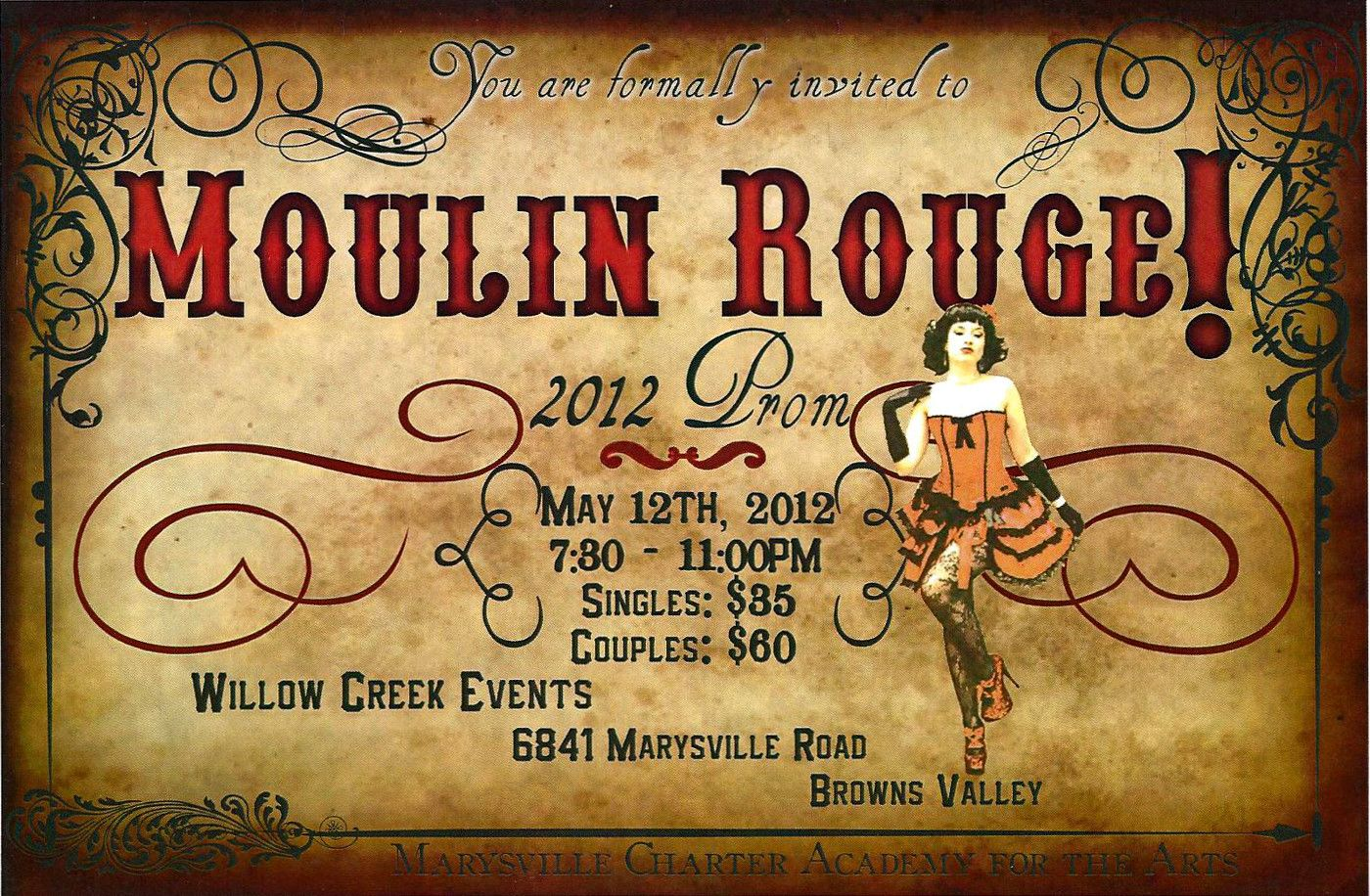 Moulin Rouge Invitations - Amazing Invitation Template Design by ...