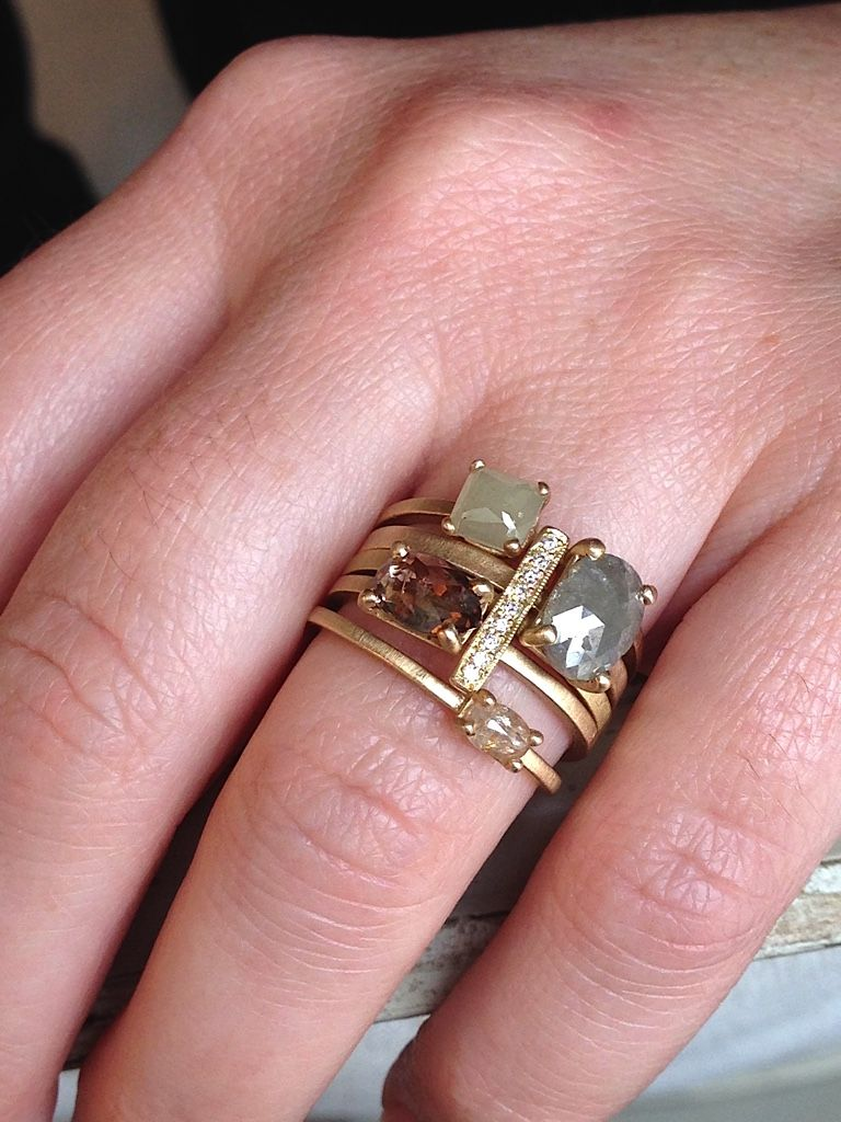 Gorgeous stacking rings by Dawes Design. Amanda Pinson Jewelry. Shop ...