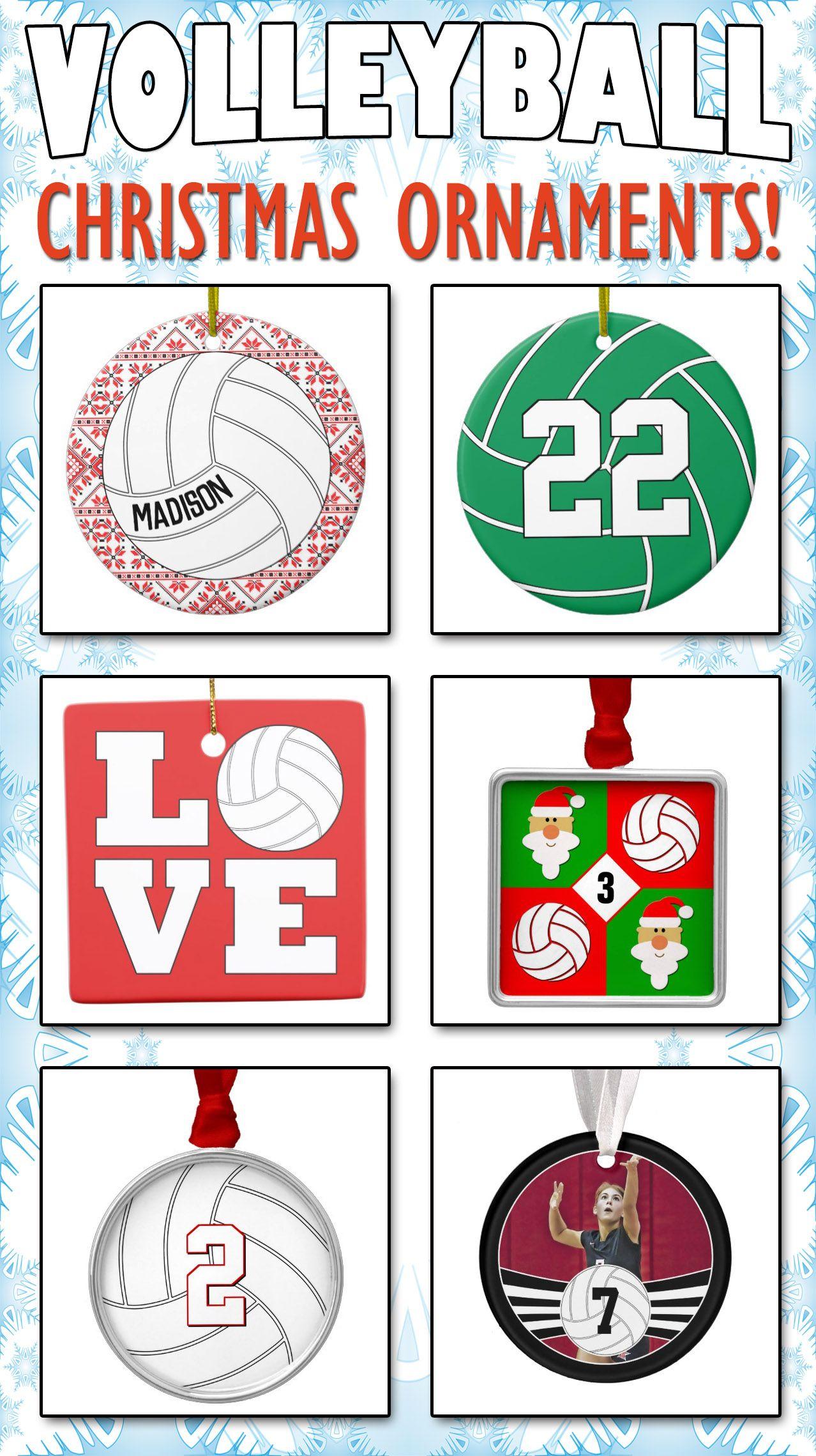 Custom Volleyball Christmas Ornaments Volleyball Christmas Volleyball Ornaments Volleyball Gifts