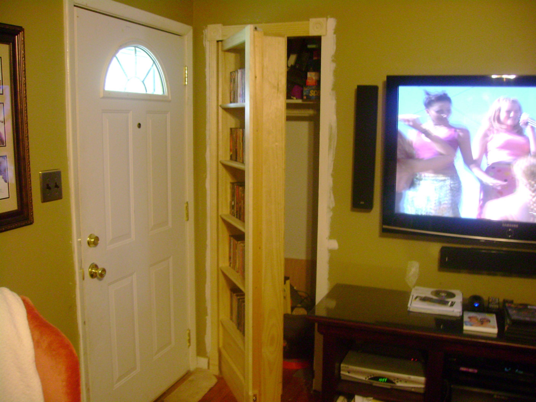 Hidden Door Hinges Behind Bookcase | Hidden Door Bookcase | Ex Tenebris Lux
