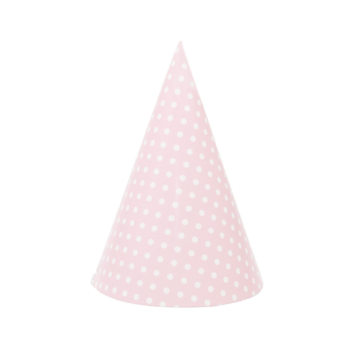 Pink Polka Dot Party Hats (pack of 12)