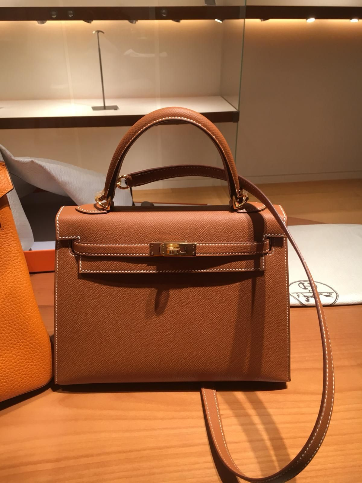 141b64eaca Hermes Kelly 25 Gold Epsom Gold Hardware  k25  hermes  kelly  handbags  bags   gold  rarebag  crocobags  limitededition  harrods  christmasgifts  stylish  ...