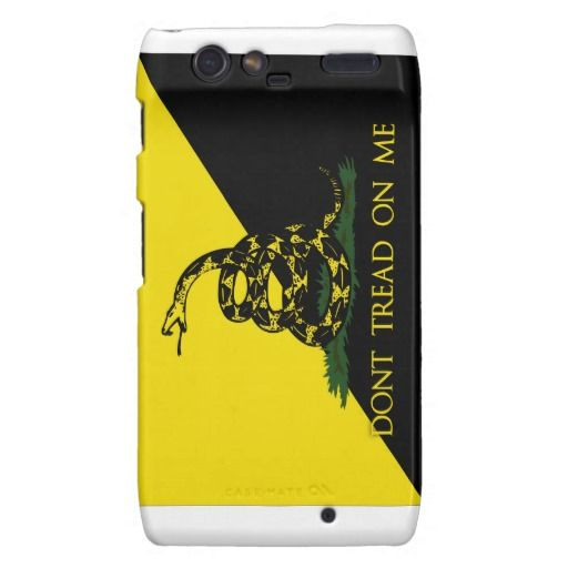Dont Tread On Me Anarchist Flag Motorola Droid RAZR Cover.  Check out the artist's link.