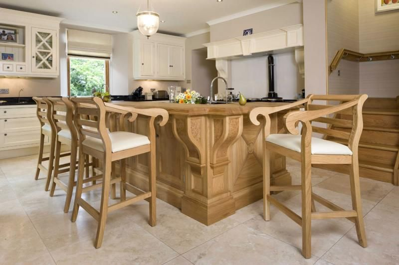Bespoke Bar Stools To Match A Clive Christian Kitchen