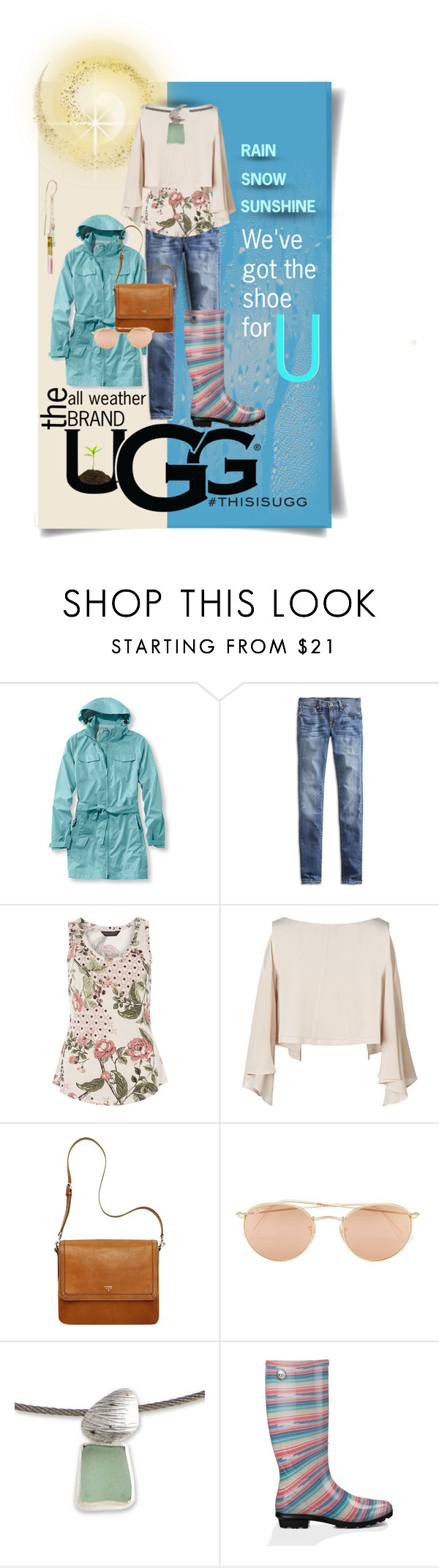 """Play With Prints In UGG: Contest Entry"" by simply-one ❤ liked on Polyvore featuring L.L.Bean, Lucky Brand, UGG Australia, Dorothy Perkins, Ray-Ban, NOVICA, Melissa Joy Manning and thisisugg"