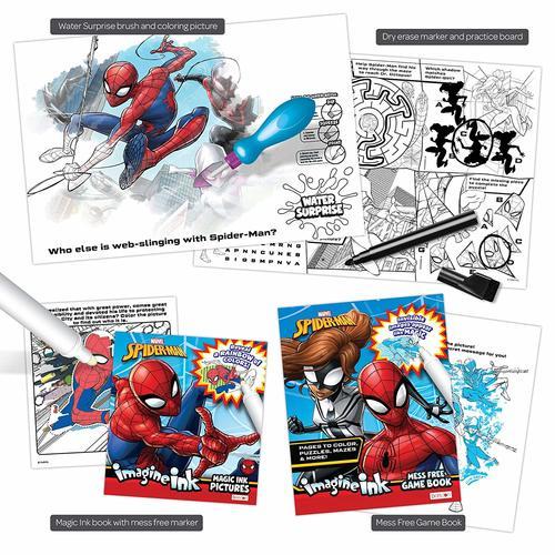 Spider Man Imagine Ink 4 In 1 Activity Box Set Spiderman Free Games Boxset