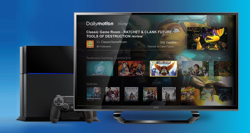 New Dailymotion service on PS4 | Wiztivi by LEBRUN Séverine
