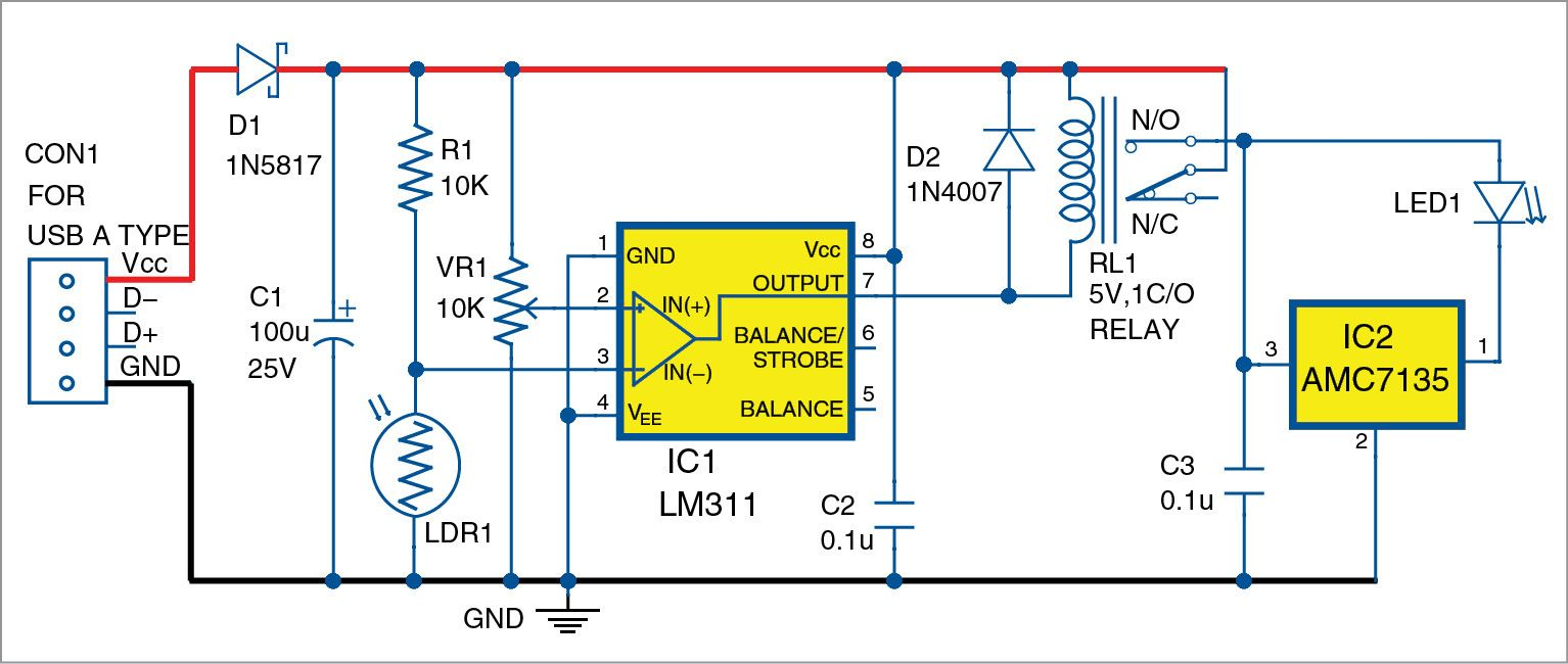 Webcam View Illuminator Diy Pinterest Electronics Projects Shock Alarm Circuit Electronic Circuits And Diagramelectronics The Project Describes Here Is Usb Based Which Detects Low Light Automatically Switches On Led