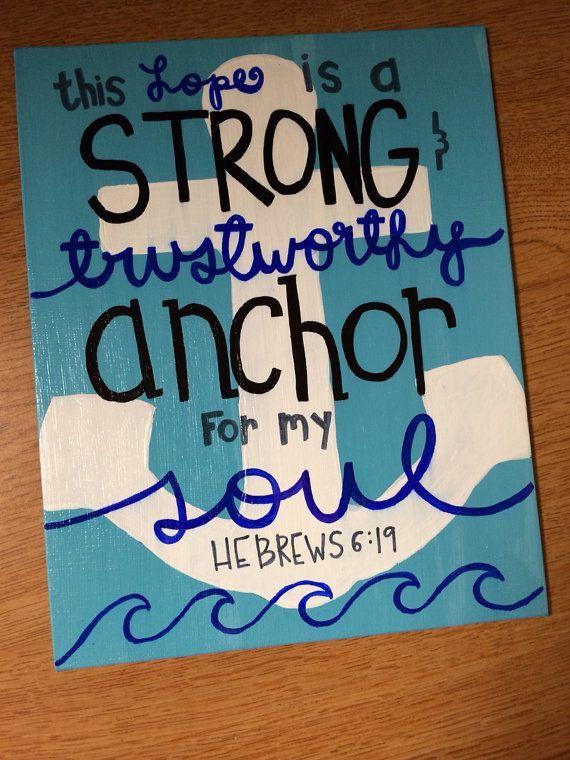 Canvas Art Bible Verses Anchor Painting Verse