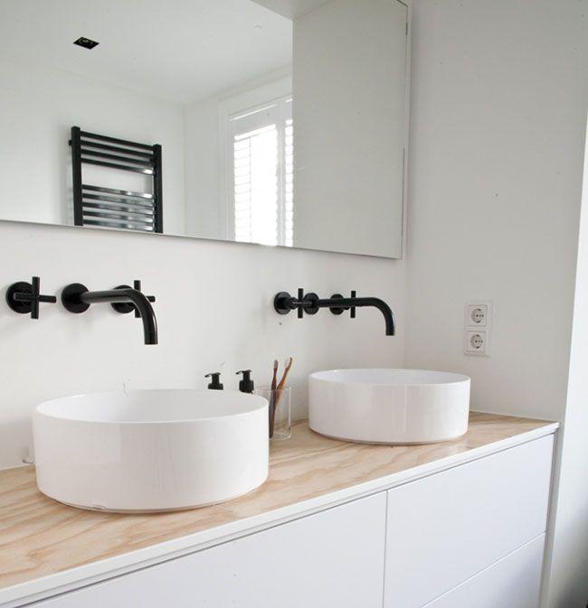 Zwarte kraan badkamer google zoeken keukens en for Badkamer kraan