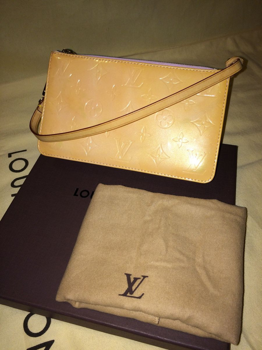 Authentic Louis Vuitton Lexington Blush Rose Pink Vernis Pochette