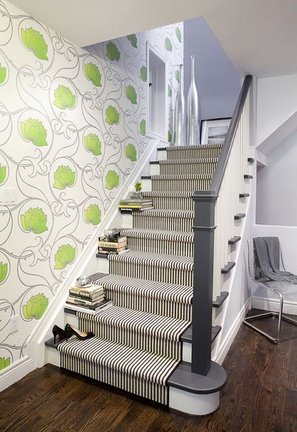 Patterned Carpet For The Basement Stairs...not This One But Something New!