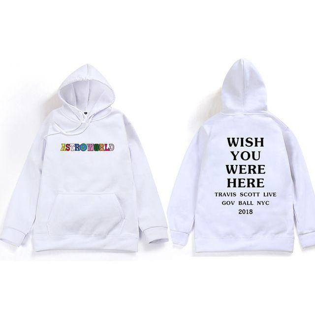 Travis Scott Astroworld WISH YOU WERE HERE Unisex Pullover Hoodie and Sweatshirt