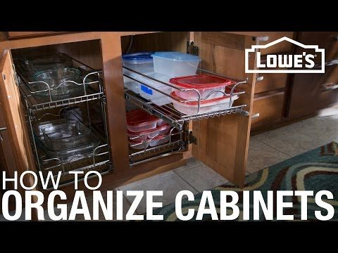 How to Install Cabinet Organizers - YouTube #cabinetorganizers
