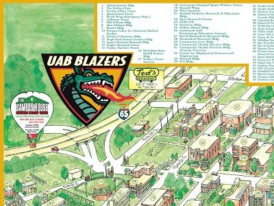 Uab Campus Map garrisons map revisions uab 2008 400 X 300 Pixels ...