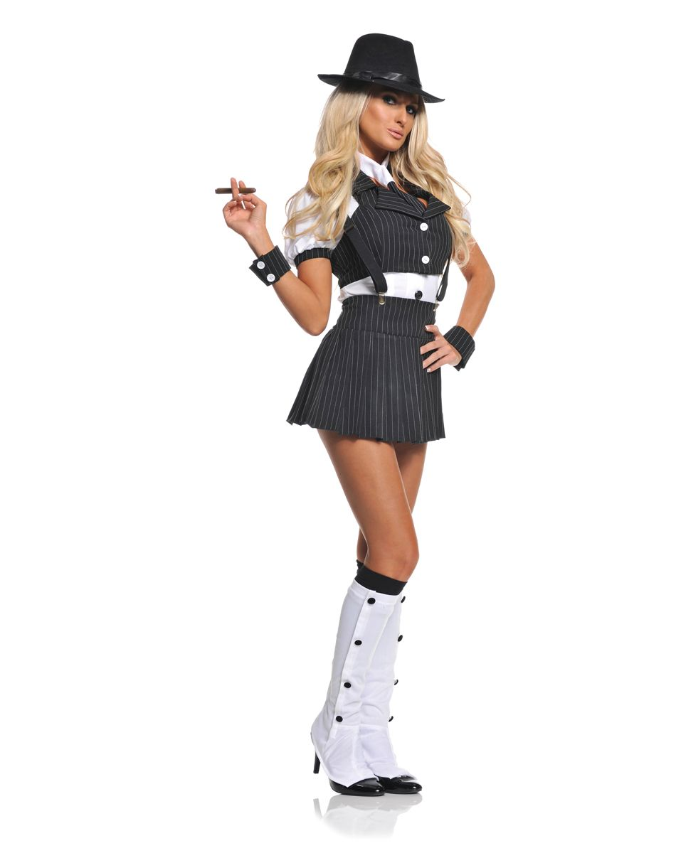 Miss Mob Adult Womens Costume – Spirit Halloween | Halloween ...