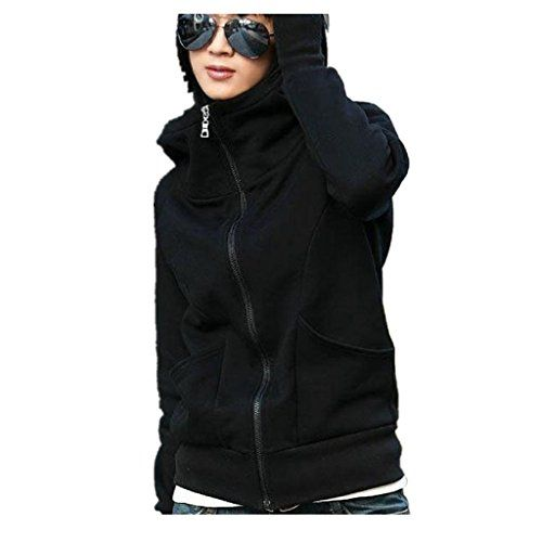 Women Sweater CoatBeautyvan Lady Hooded Coat Sweatshirt Jacket Pullover Long Sleeve unisize Black * Be sure to check out this awesome product.