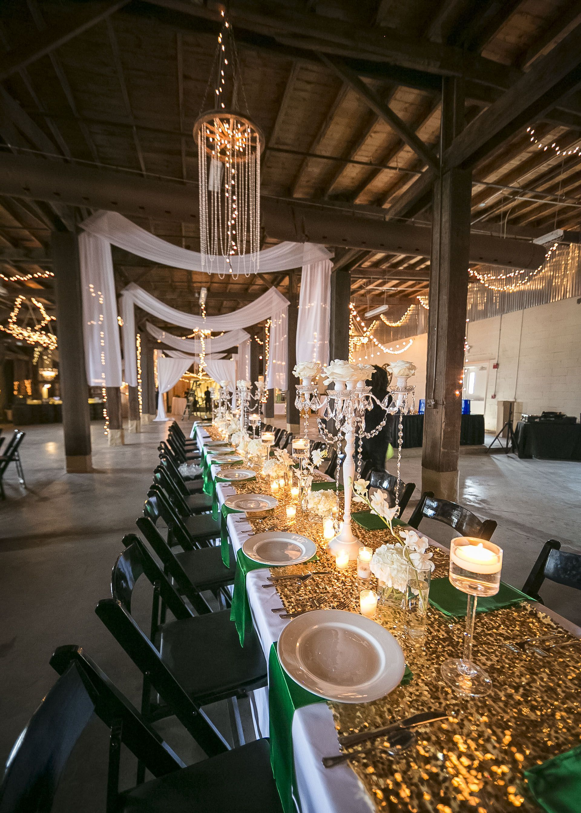 Love the green and gold! epiceventcentre in 2020 New