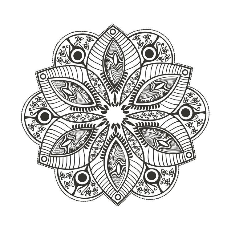 More Mandala Coloring Adult Coloring Pinterest Mandala
