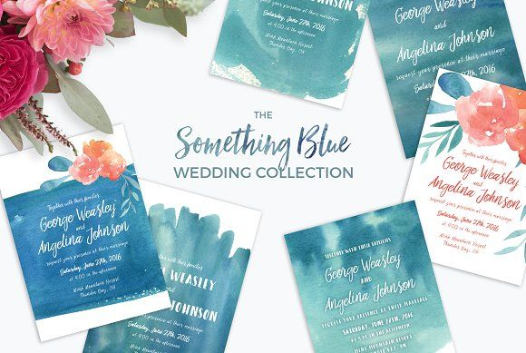 Something Blue Wedding Collection by Knotted Design on @creativemarket
