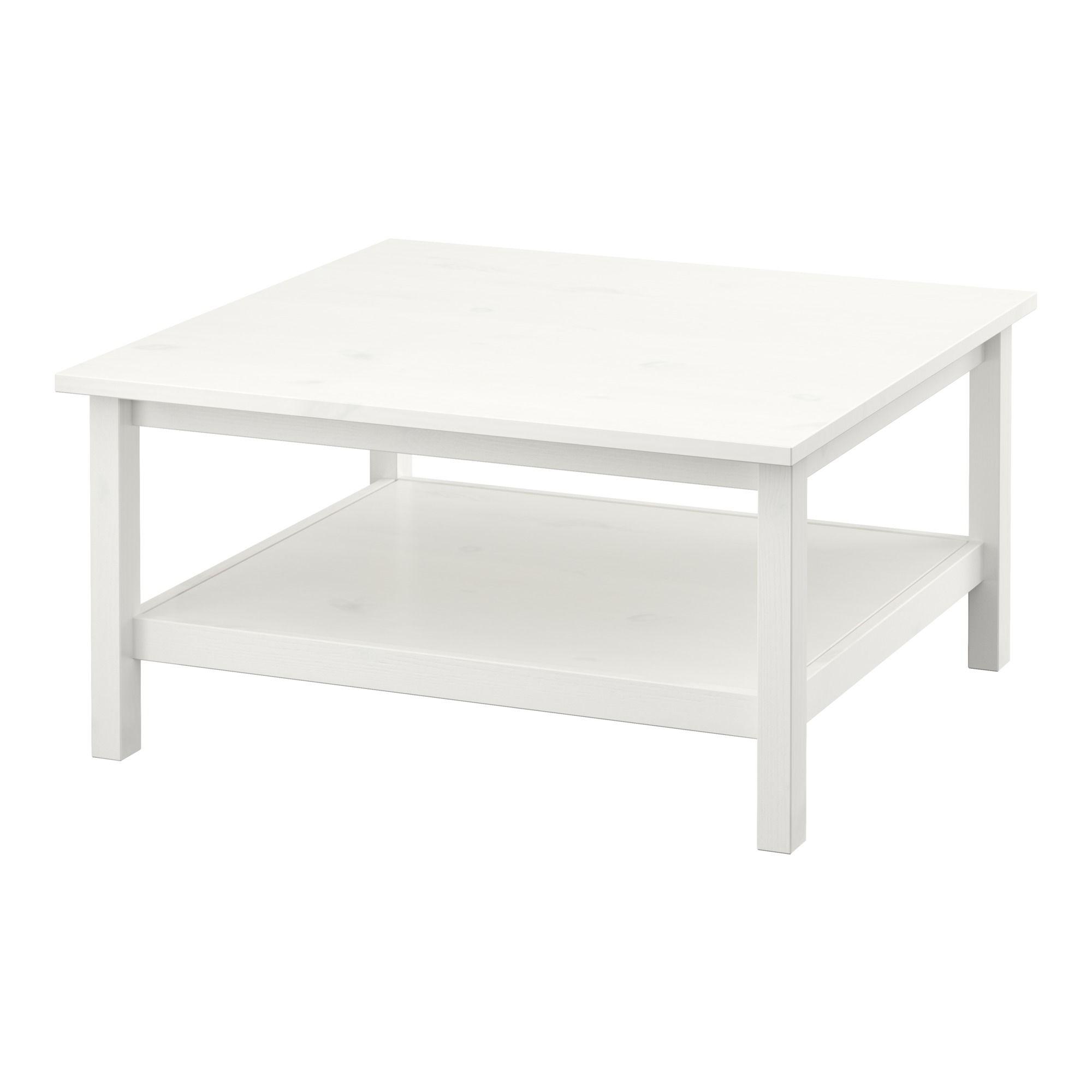 IKEA - HEMNES, Couchtisch, weiß gebeizt, , Massivholz sorgt ...