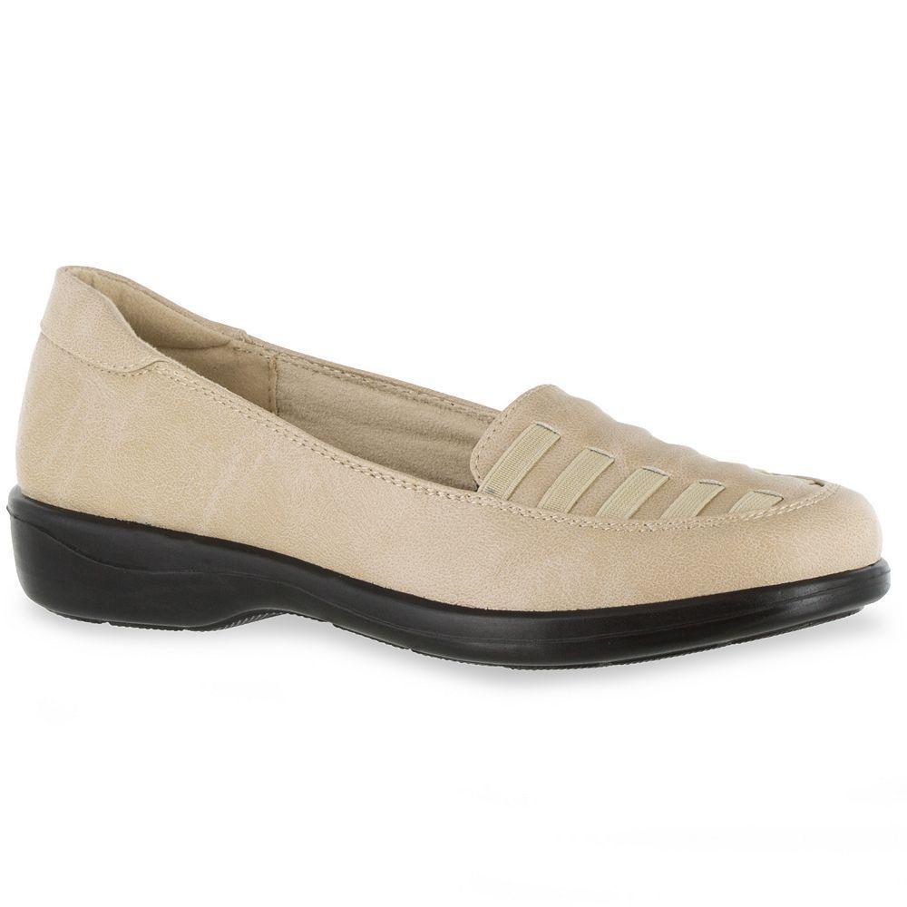 Easy Street Genesis Women's Comfort Slip-On Shoes, Size: medium (11), Beig/Green (Beig/Khaki)
