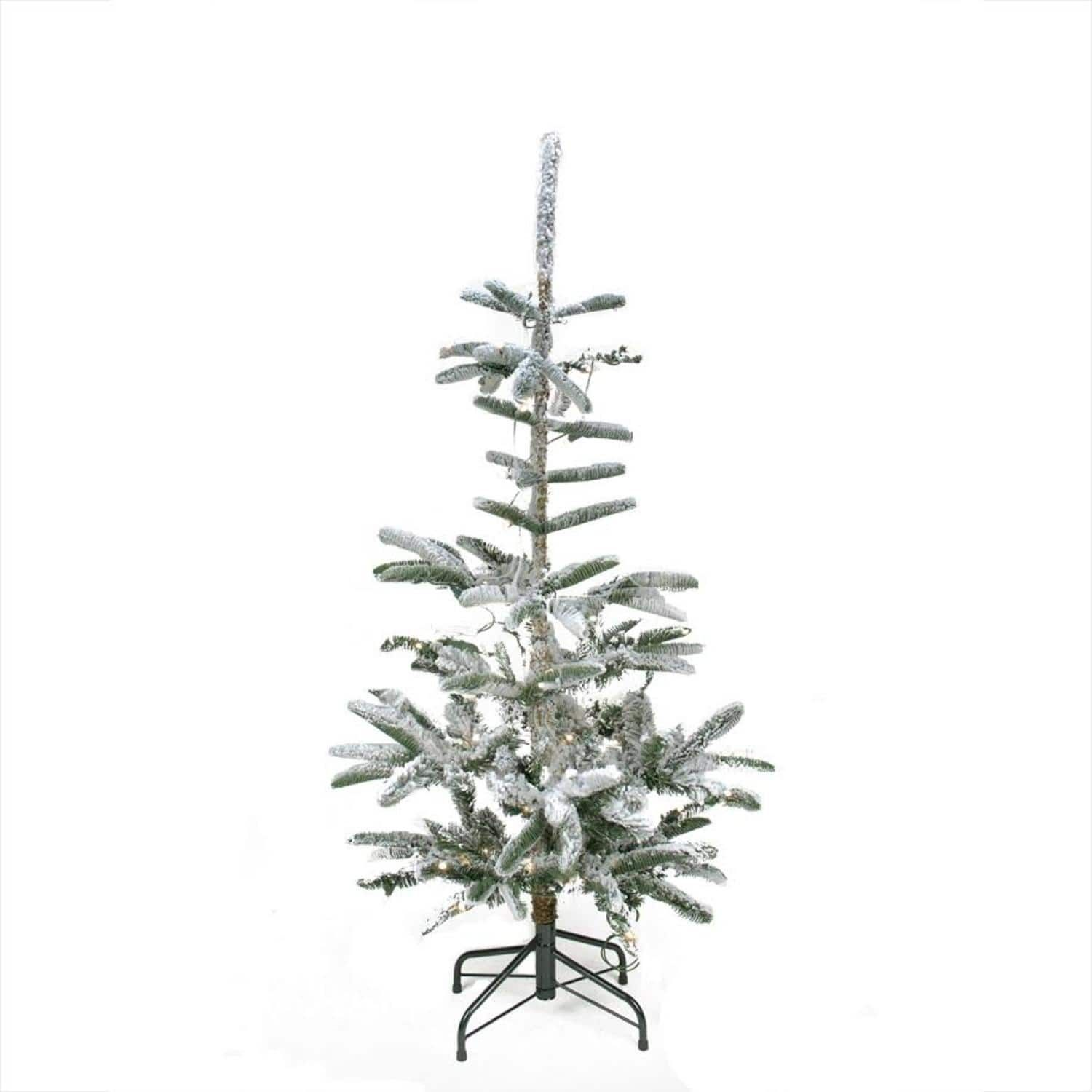 4 5 Pre Lit Noble Fir Artificial Flocked Christmas Tree