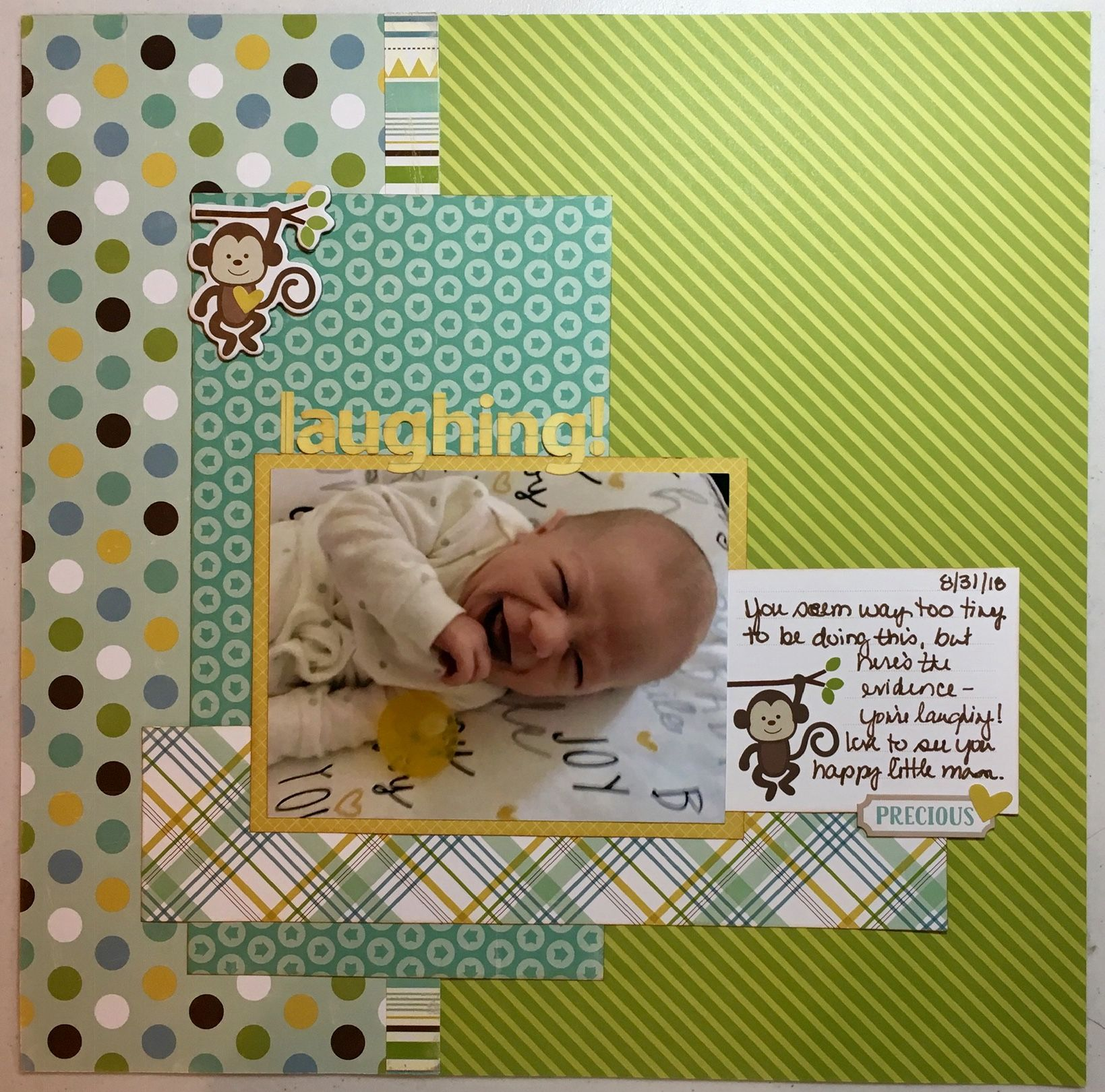 Laughing scrapbooking layouts baby baby