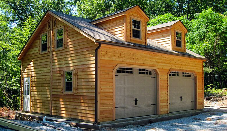 Horizon Structures built this 24x24 2-story dormer garage with ...