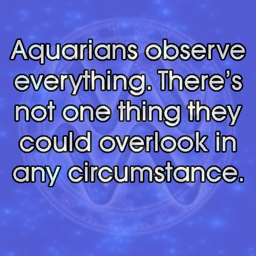 Aquarians observe everything | The Water Barrier | Aquarius