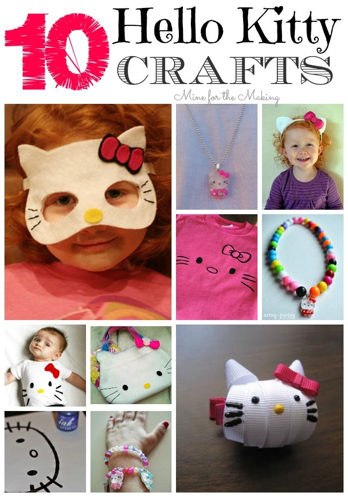 Easy Hello Kitty Necklace 9 More Hello Kitty Crafts Diy For Kids