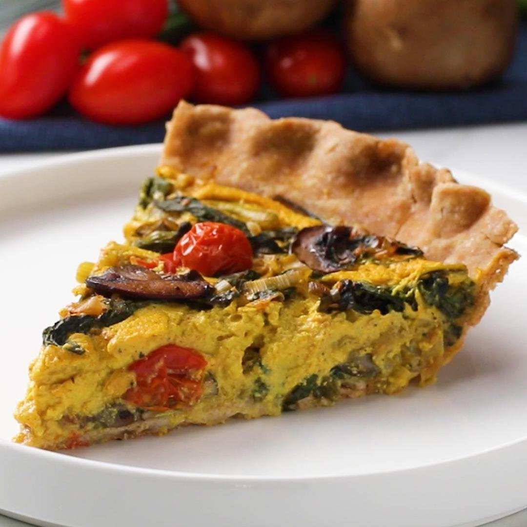 Garden Vegetable Vegan Quiche Recipe By Tasty Recipe Vegan Quiche Quiche Recipes Recipes