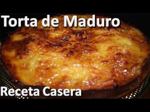 Como Hacer Torta De Maduro Receta Casera Recetas De Tortas Faciles Youtube Torta De Platano Maduro Receta Para Hacer Torta Tortas De Plátano