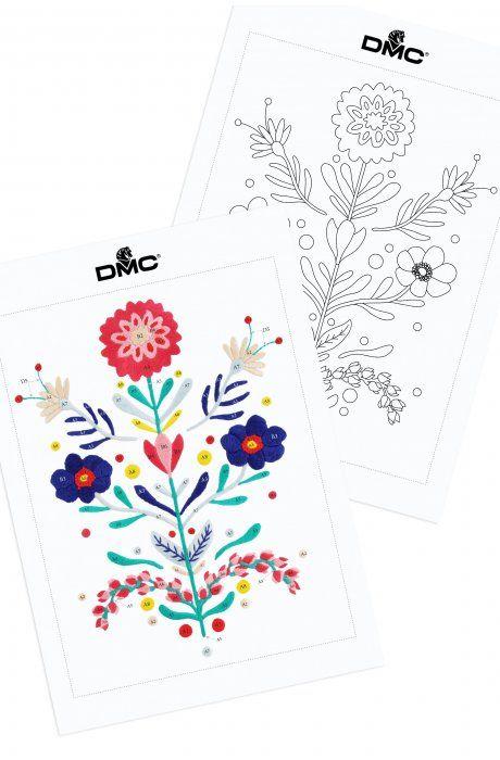 Bouquet de flores | FREE PATTERNS | Pinterest | Bordado, Flores and ...