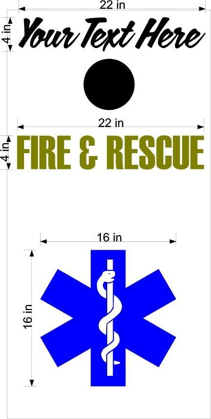 EMS EMT Fireman Fire Fighter Rescue Cornhole Vinyl Decal Sticker Graphic Custom Text FP13