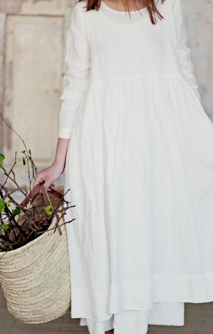 handmade linen dresssondeflorshop on etsy | kleidung