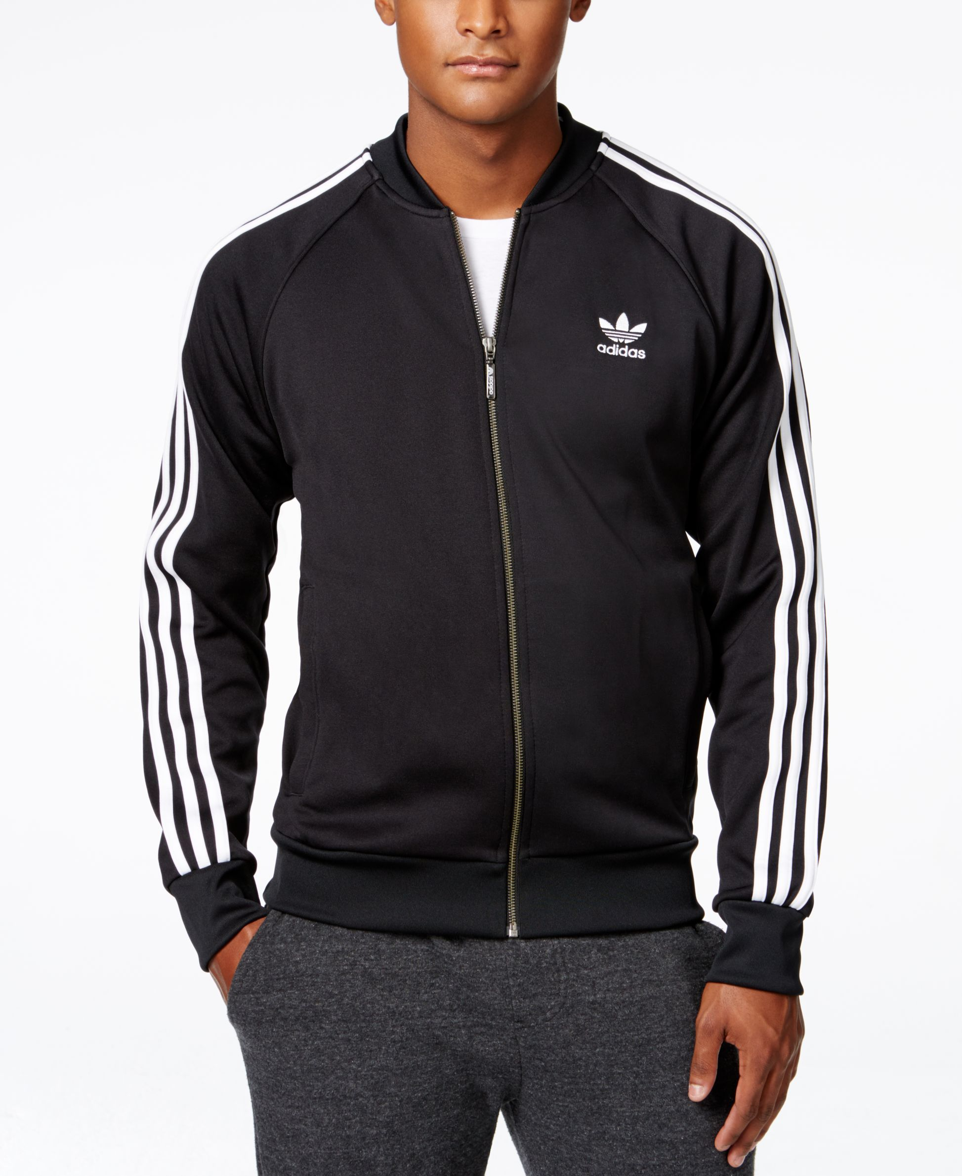 Adidas Originals Men S Superstar Track Jacket Hoodies Sweatshirts Men Macy S Adidas Originals Jacket Adidas Jacket Mens Mens Sweatshirts Hoodie