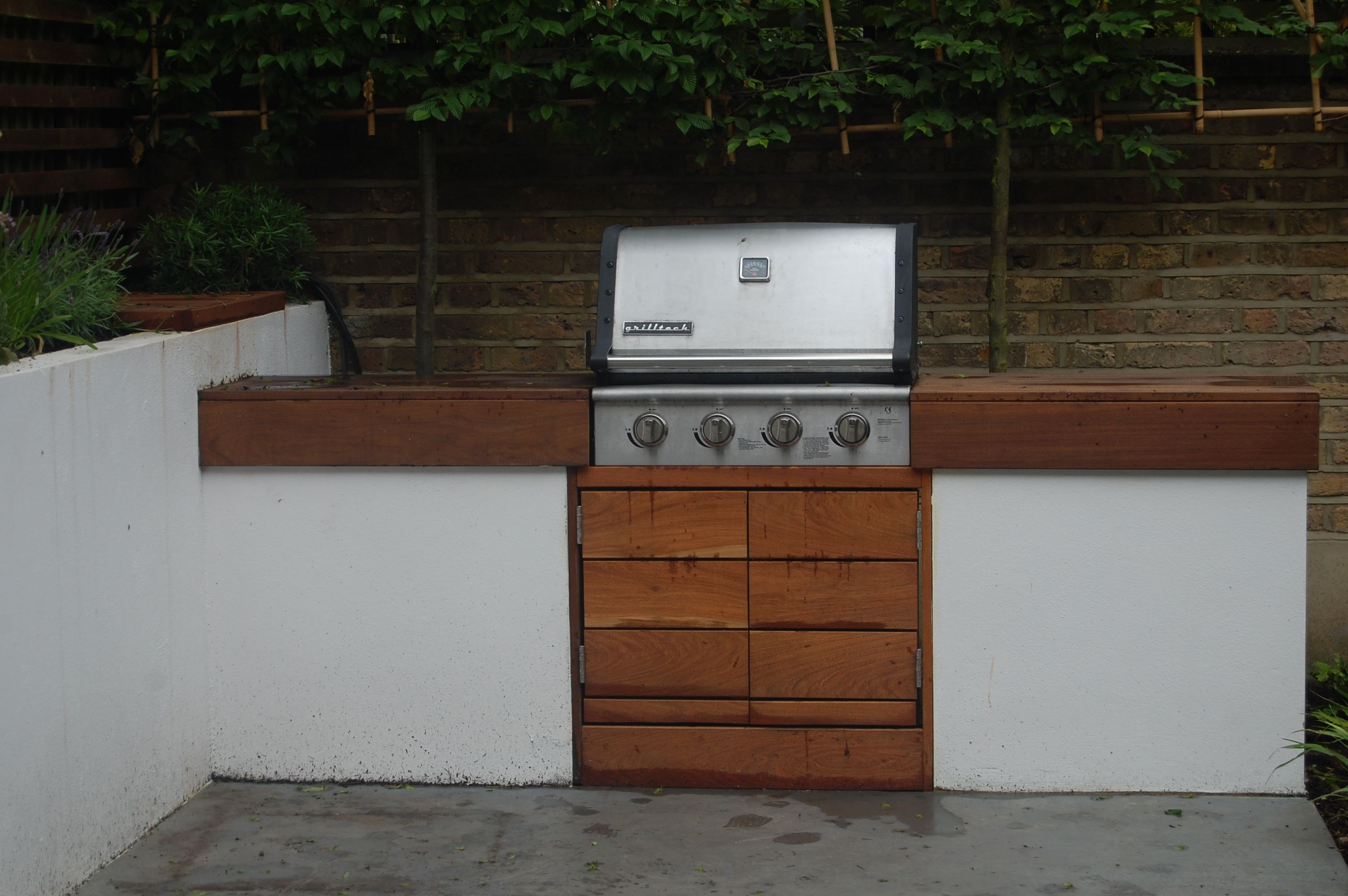 Integrated Mobile Bbq Shelley Hugh Jones Garden Design Outdoor