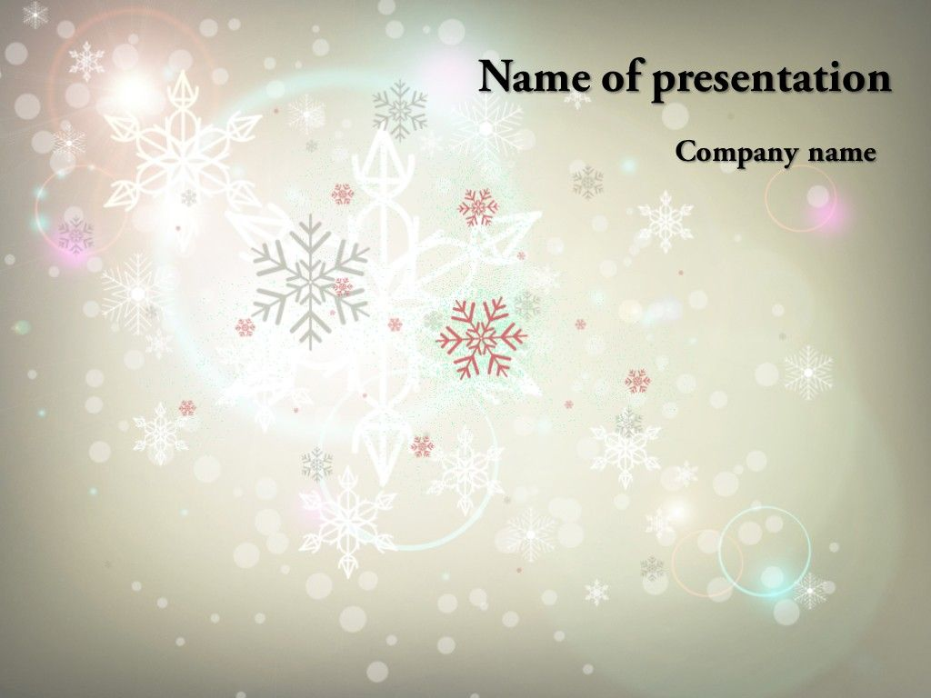 Winter Powerpoint Template Projects To Try Pinterest