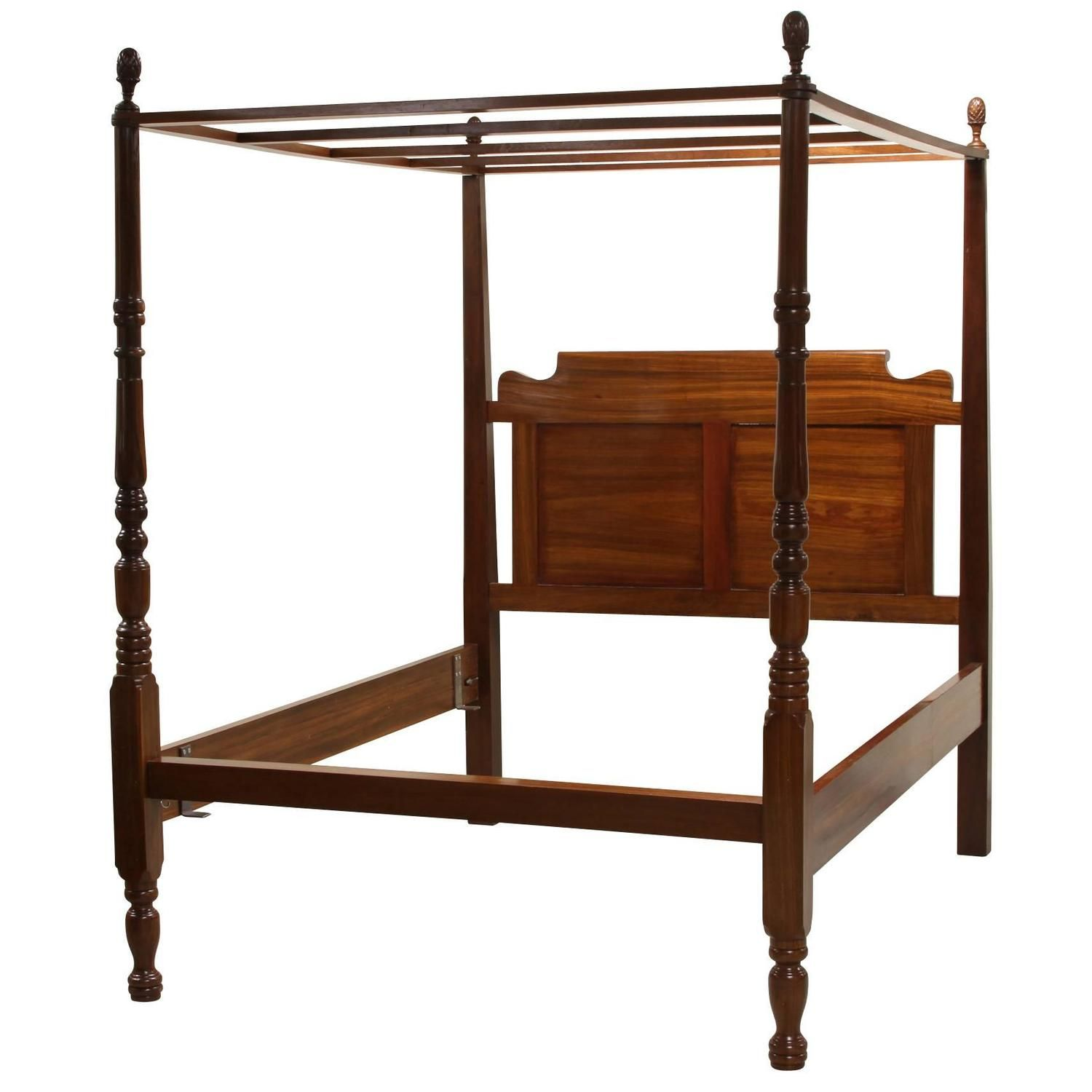 Very Fine Solid Mahogany Queen Canopy Bed  sc 1 st  Pinterest & Very Fine Solid Mahogany Queen Canopy Bed | Queen canopy bed ...