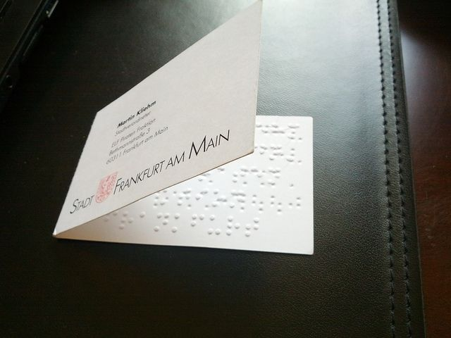 Braille Business Card Cool Business Cards Fresh Business Cards Innovative Business Cards