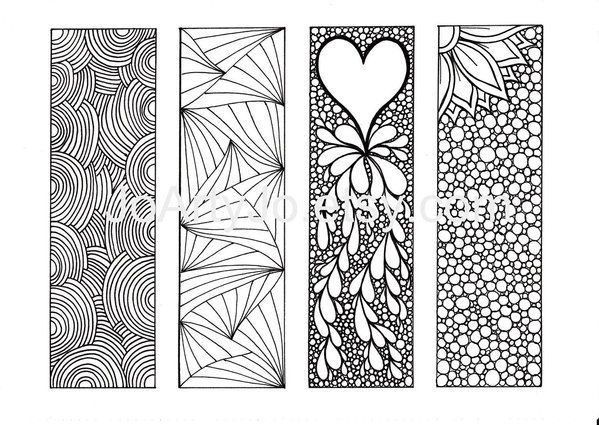 1000 Images About Book Marks On Pinterest Coloring Bookmarks Free Printable Bookmarks Zentangle Patterns