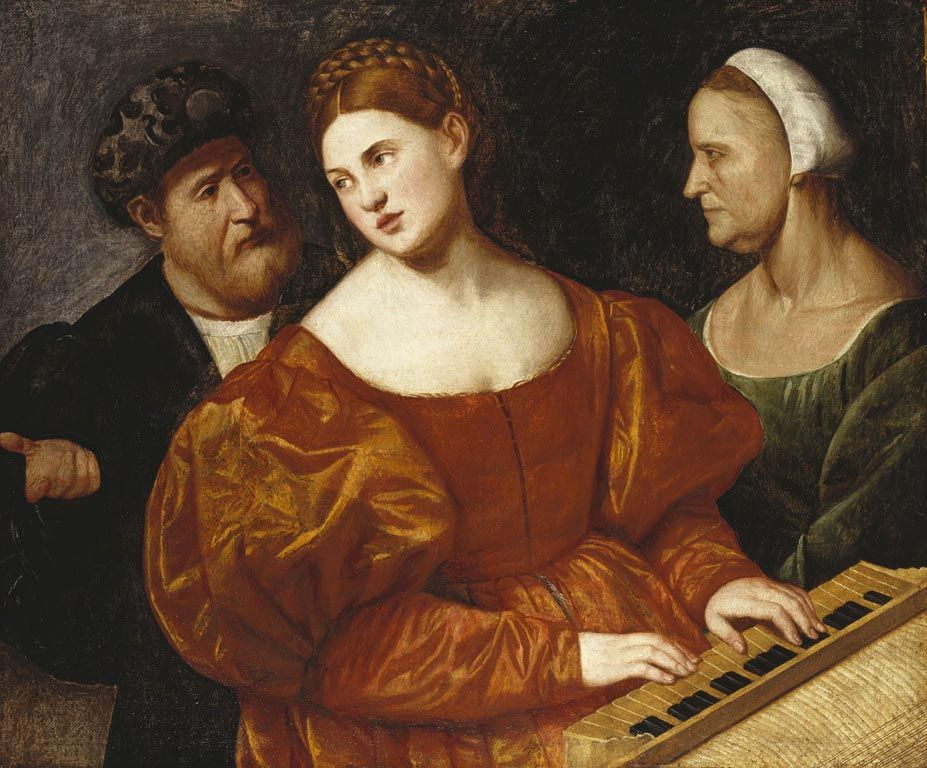 History of fashion in art & photo (ab. 1520-1525 Bernardino Licinio - A Concert)