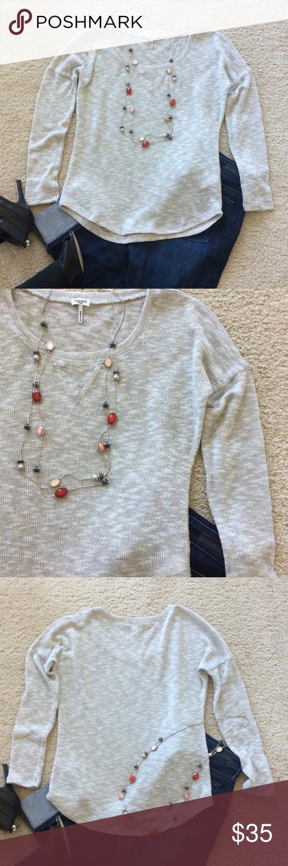 Splendid Silver Sparkle Loose Knit sweater | Loose knit sweaters ...