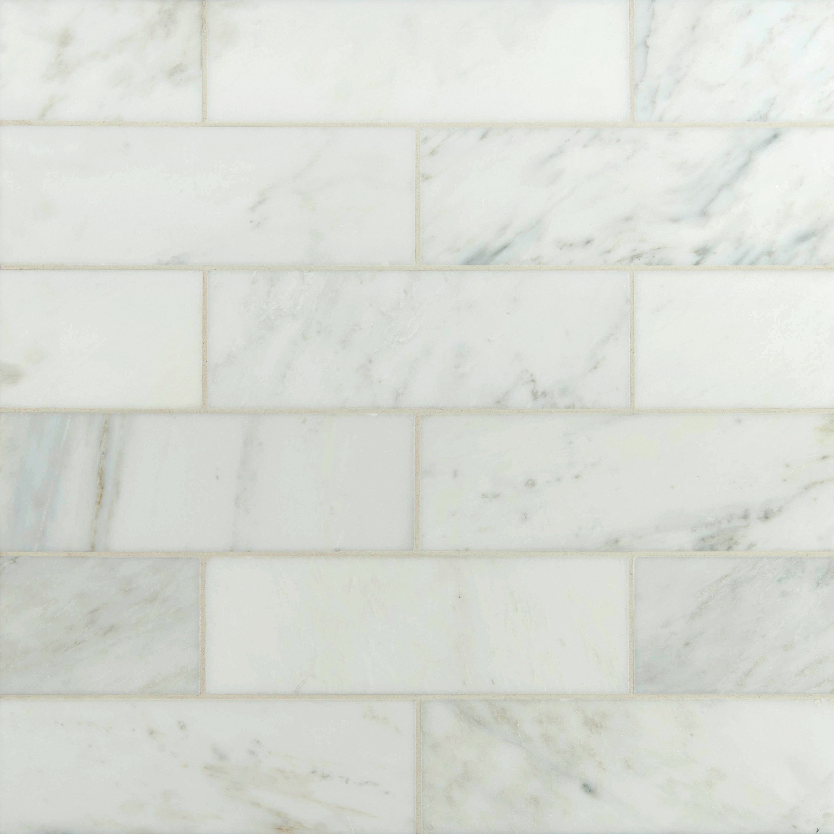 3 X 6 Polished Marble Subway Tile In Carrara White Polished Marble Tiles Marble Subway Tiles Marble Tile