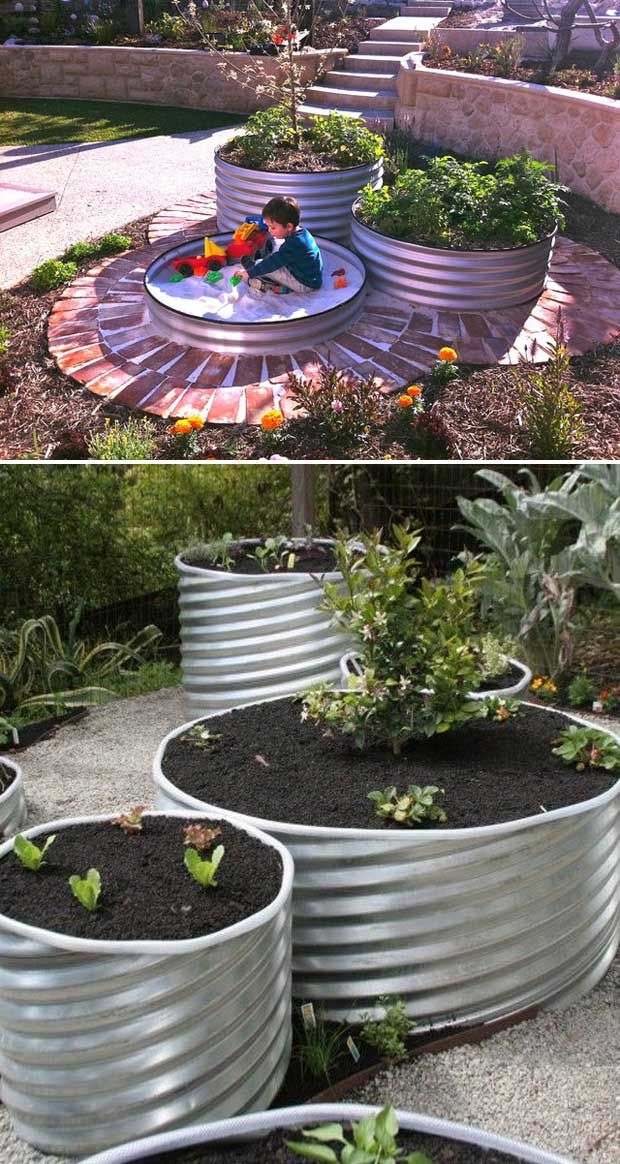 Top 19 Cool Ideas To Create A Round Garden Bed With Recycled Things In 2020 Garden Beds Vegetable Garden Raised Beds Building A Raised Garden