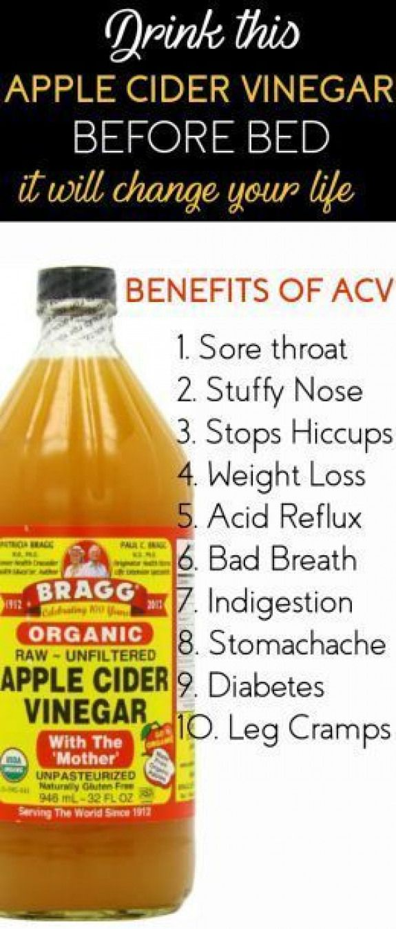 Drink Apple Cider Vinegar Before Bed It Will Change Your